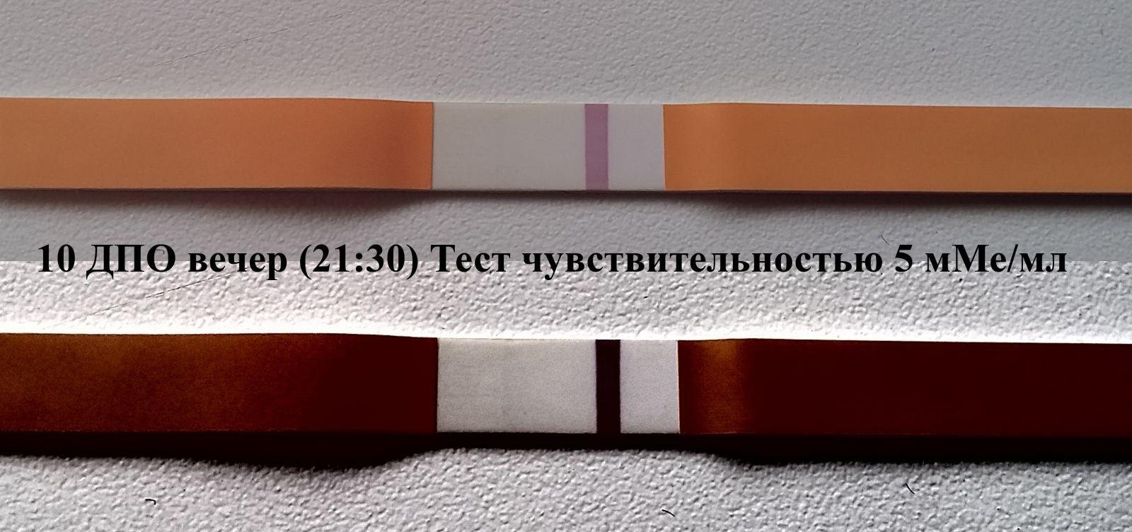 Тест на беременность чувствительность 10 мме