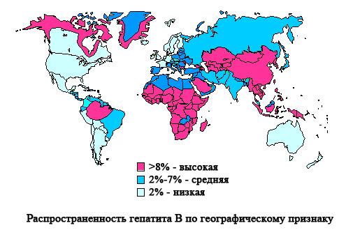 Распространенность гепатита B