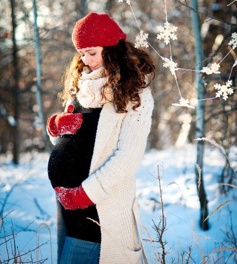 беременная зимой