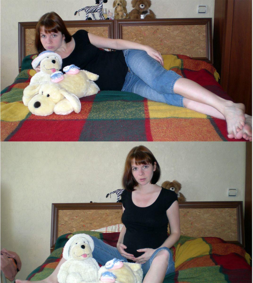 Малышке уже 33 недельки, а мама продолжает вязать =)