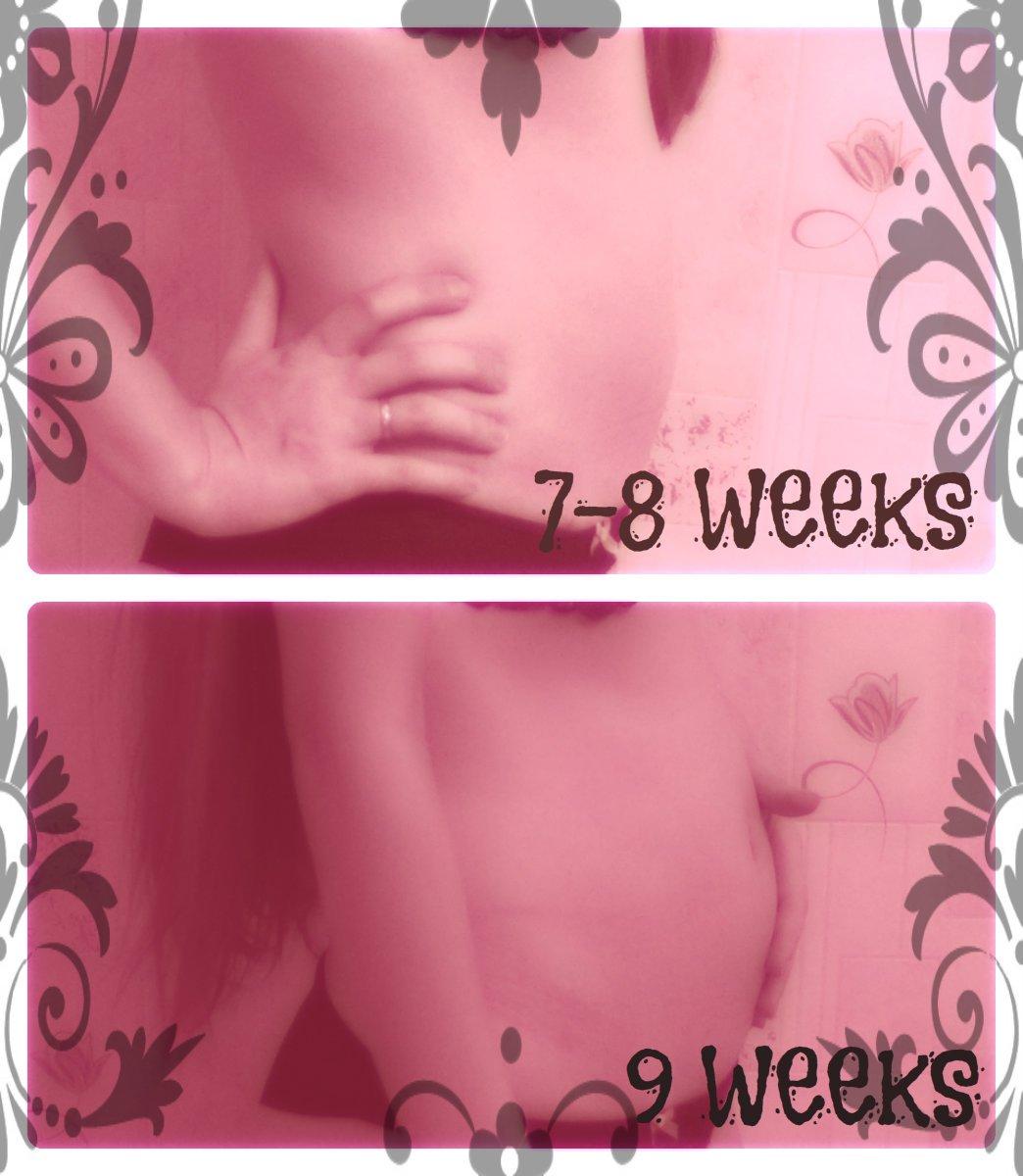 7-8 и 9 неделек))) Прогресс))