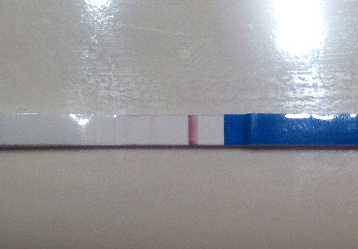 Тест показал полоску после высыхания с фото