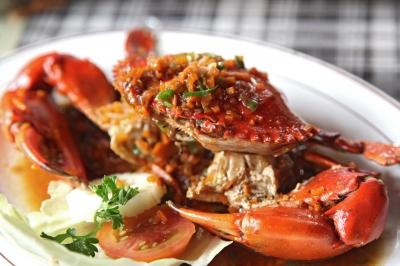 Салат из морских продуктов