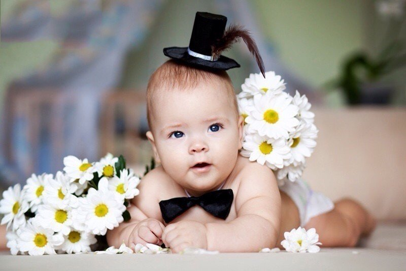 младенец с цветами фото блять, тварям-наркоманам из-за