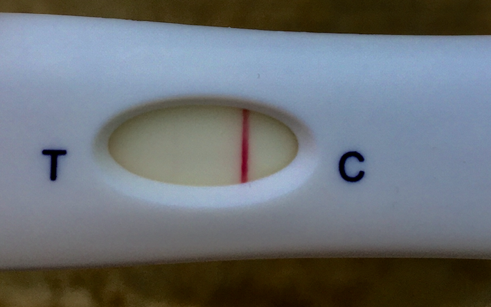 Фото теста на беременность