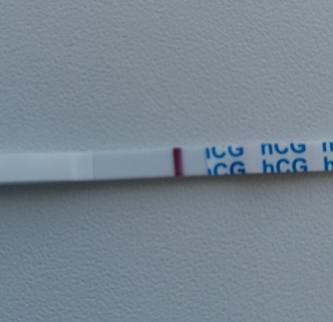Слабоположительный тест на беременность
